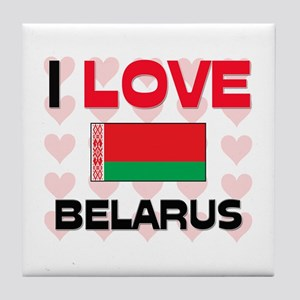 I Love Belarus Tile Coaster
